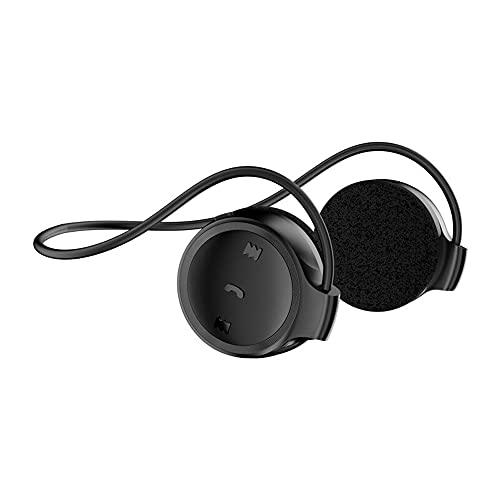 Marathon2 - Auriculares Bluetooth inalámbricos con tecnología de Captura de Voz Transparente, micrófono de cancelación de Eco para Deportes, Color Negro