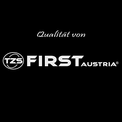 TZS First Austria -1,7 Liter Glaswasserkocher mit Kalkfilter, blaue LED Beleuchtung innen, Wasserkocher Glas, BPA frei, Überhitzungsschutz, 2200 Watt kabellos, automatische Deckelöffnung, schwarz