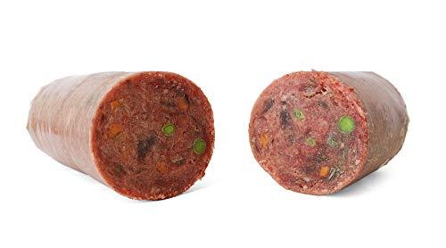 TACKENBERG XL Barf Hundefutter (Geflügel mit Rind), 14 x 1000 g Barffutter, Barffleisch für Hunde