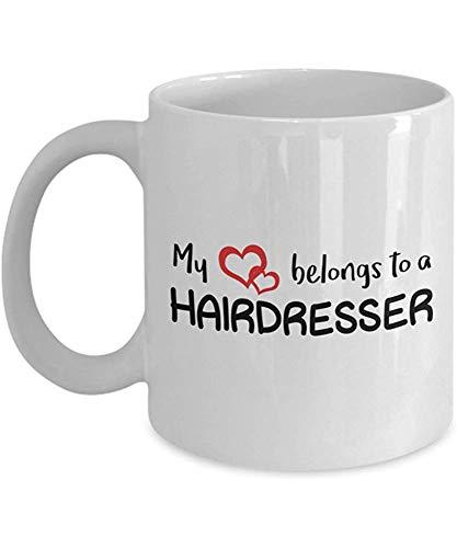 Mi corazón pertenece a un peluquero taza