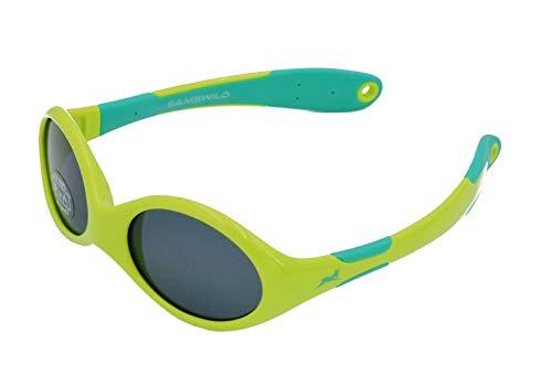Gamswild WK5716 Sonnenbrille Kinderbrille 0-3 Jahre Kleinkindbrille Babybrille Mädchen Jungs Unisex   blau   rosa   grün   GAMSKIDS, Farbe: Grün
