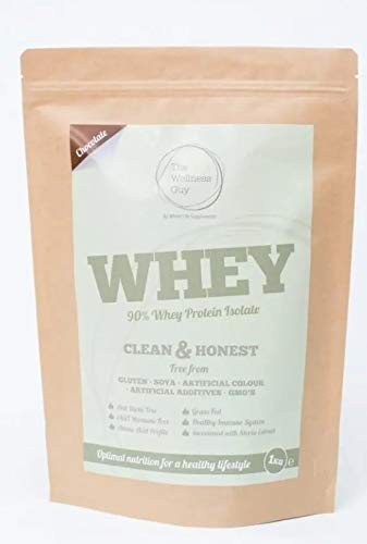 Chocolate Flavour Whey High Protein Powder 1kg Nutritious Vitamins, Minerals, and Vitamins by The Wellness Guy