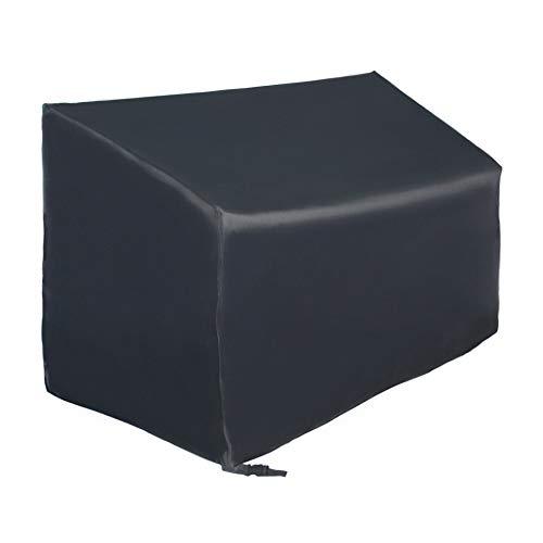 SIRUITON Abdeckung Schutzhülle für Bänke 4-Sitzer Bankabdeckung Gartenbankabdeckung Anti-UV Beschichtung im Inneren Schwarzes -18 Monate Garantie185x69x65/96 cm