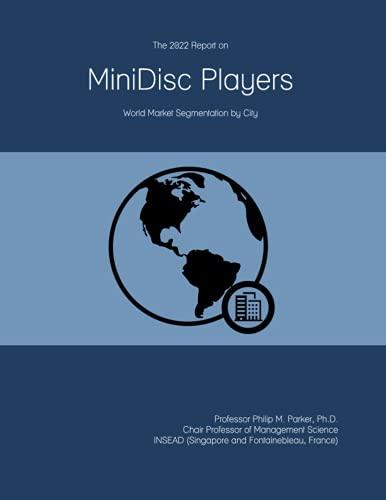The 2022 Report on MiniDisc Players: World Market Segmentation by City