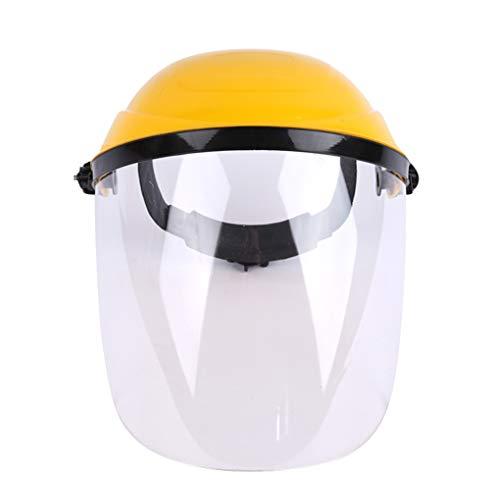 Hanxin - Casco de soldadura antisalpicaduras eléctrico de protección transparente, soldador pantalla,...