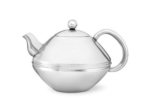doppelwandige Teekanne Minuet® Ceylon Edelstahl hochglanzpoliert 1,4 ltr., geschwungeneTüllenform