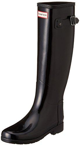 Hunter - Botas de goma impermeable para mujer, ideales para el invierno, color negro, talla 40