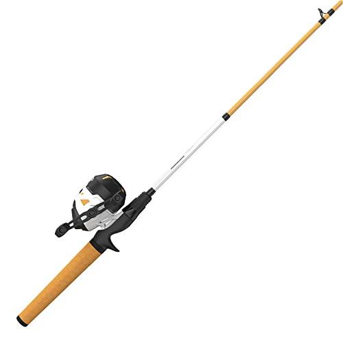 Zebco Roam Orange Spincast Reel and 2-Piece Fishing Rod Combo, ComfortGrip Rod Handle, Instant...