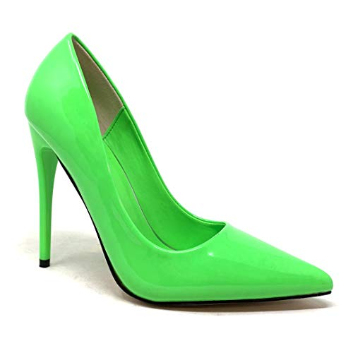 Angkorly - Damen Schuhe Pumpe - Stiletto - Sexy - glamourös - neon Fluo - Basic - Basic Stiletto high Heel 11.5 cm - Grüne BO-112 T 41