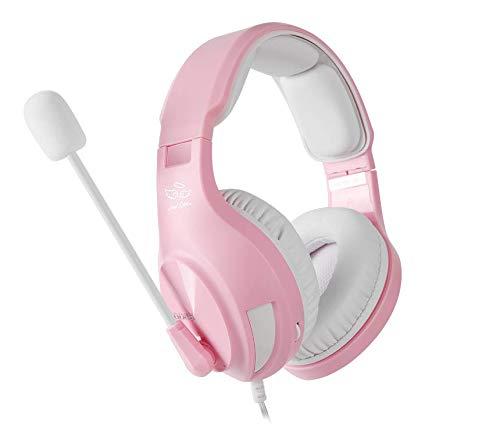 Headset Gamer Fone de Ouvido com Microfone Ps4 Celular Xbox One Pc Nintendo Switch Sades A2 Rosa Angel Edition