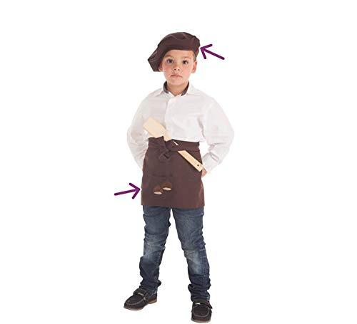 Creaciones Llopis Kit de Castañero para niño: Delantal y Boina