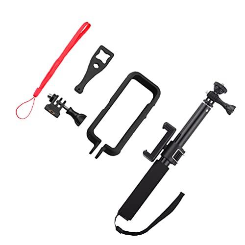 VILLCASE Kit de Palo de Selfie Extensible Cámara Marco Stick Set- Resistente Caso Cámara Compatible con Insta 360 One X2