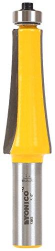 Yonico 13005 12-Inch Radius Guitar Finger Board Radiusing Router Bit 1/2-Inch Shank