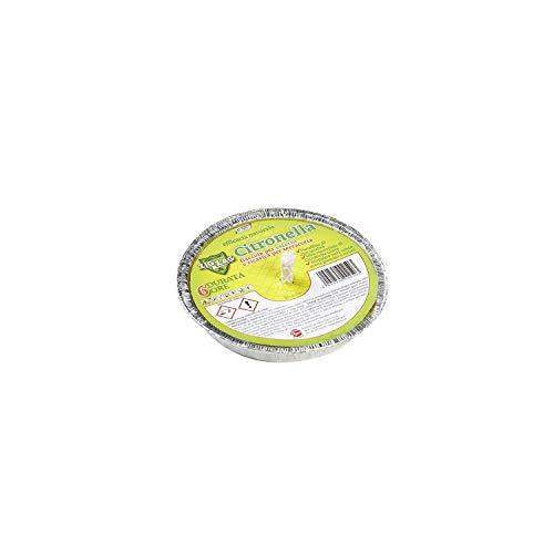 Zig Zag, Candela alla Citronella, Fiaccola in Alluminio, prodotto in Italia, diametro 14 cm, durata 6 Ore