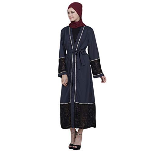 Morran Mujeres Musulmanas Encaje Vestido De Mujer Musulmn Islmicas - Elegante Largo rabe Kaftan Vestido Largo Ropa Dubai Cardigan Blusa Maxi Vestido Boho Tnica Disfraz