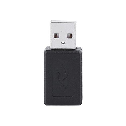 Convertidor M a F, Micro USB Negro, Mini Cambiador para Datos