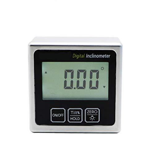 RongWang Magnética inclinómetro Digital del Metro del Nivel del medidor de ángulo de 360 Grados Nivel electrónico Mini prolongador