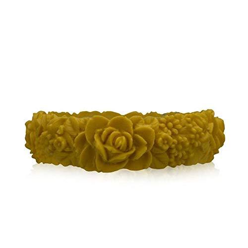 obag Pulsera Silicona con Estampado 3D Flores Color Amarillo