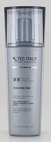 Tec Italy Liquid Gel for Sculpting & Defining Curls - Scultore Fine 10.1 Fl Oz by Tec Italy
