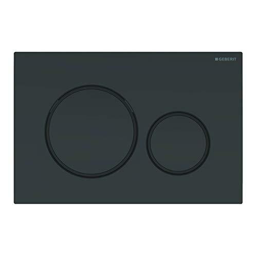 Geberit 115.882.DW.1 Betätigungsplatte Sigma20 für 2-Mengen-Spülung, schwarz matt, 115882DW1