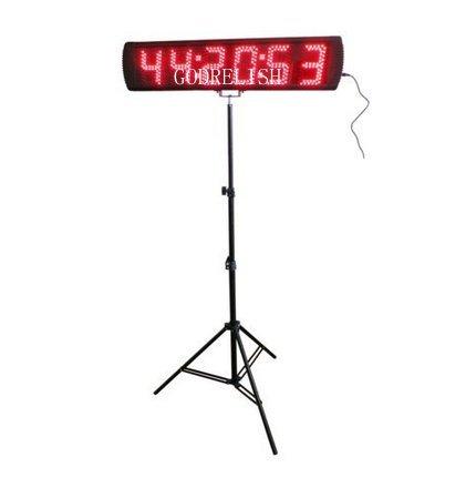 godrelish rot 5Zoll Notebook LED Uhr mit der Zeitmessung für Running Marathon Digital Rennrad Countdown/oben Timer Events des Uhr Stativ