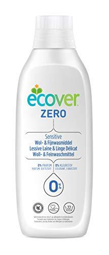 Ecover Lessive Délicat Laine Zéro | Sans Enzymes 0% | Doux Pour Les Peaux Sensibles Hypoallergénique | Convient Pour Les Bébés | 1L - 22 Lavages