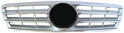 Coche Rejillas frontales de radiador para Mercedes Benz C Class W203 W204 C280 C320 C240 C200 C180 C200 C200 C260 C63 2000-2006, arrilla de Delantera Malla Rejilla de Repuesto Grille Grill