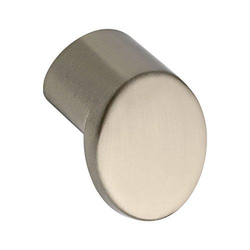 Bouton de porte ø 21 mm, profondeur 21 mm, zinc moulé sous pression effet en acier inoxydable