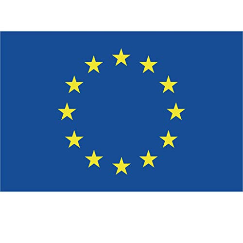 jieGorge Flag Of the European Union 5 x 3ft Flag in Polyester Ideal EU Flag For Outdoors, Home Decor, Products for Christmas