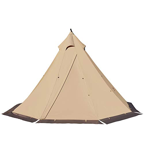 TOMOUNT ワンポールテント ポリコットンテント 2.1m TCキャンプテント 多機能 2-4人 簡単設営 撥水 通気 遮光 焚火 キャンプ用