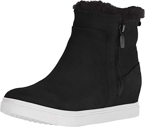 Blondo Women's Glade Sneaker, Black Suede, 7.5 M US