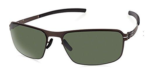 IC Berlin Gafas de sol Cuerpo Negro Teca/Negro/Verde Polarizado/Flex