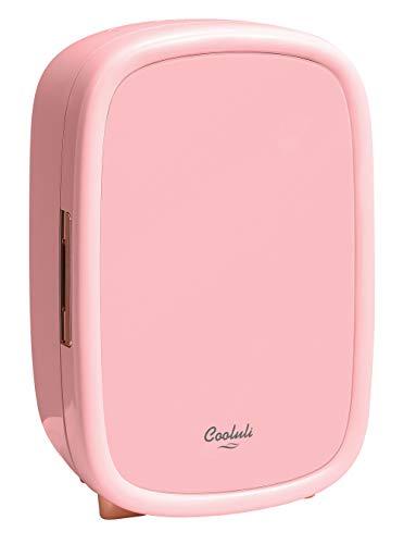 Cooluli Beauty Pink 12-liter Skincare Fridge for Makeup Storage, Esthetician Supplies, Skin care Tools, Cosmetics - Womens, Teens Cute Mini Beauty Fridge & Organizer