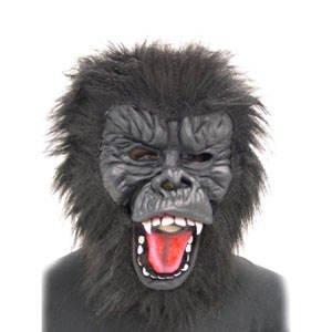 Party-Discount Tierkopf Gorilla mit Plüschhaar