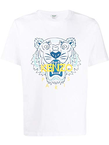 Photo of Kenzo Fashion Man FA55TS0504YA01 White Cotton T-Shirt | Spring Summer 20
