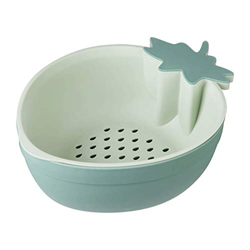 Strainers and Colanders Pasta 2-in-1 Colander/filter Bowl Double-layer Plastic Strawberry Drain Basket Fruit Plate Small Strainer with Toothpicks For Washing Fruits and Beans Colanders & Food Strainer