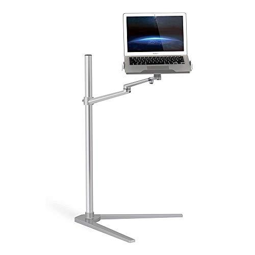 Q-HL Soporte Monitor Stand Riser 3 en 1 Giratorio 360º Altura portátil Soporte Ajustable de la Tableta y Smart Soporte telefónico Bed Piso for el Ordenador portátil (12-17 Pulgadas) (Plata)