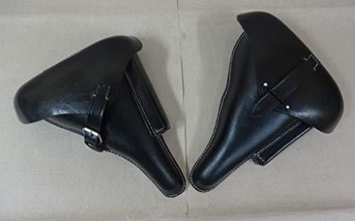 warreplica WW2 Deutsch P08 Holster & P38 Holster Schwarz Leder Farbe - Nachdruck