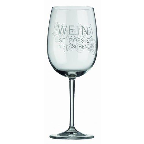 Räder Rotweinglas Wein ist Poesie in Flaschen