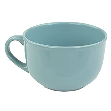 Home Basics Ceramic Dinnerware Set (22 oz Jumbo Mug, Turquoise)