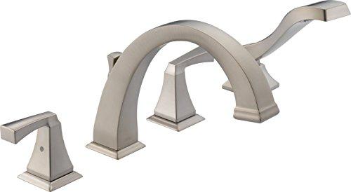 DELTA FAUCET T4751-SP - Plato romano seco con borde de ducha de mano, antimanchas, acero inoxidable