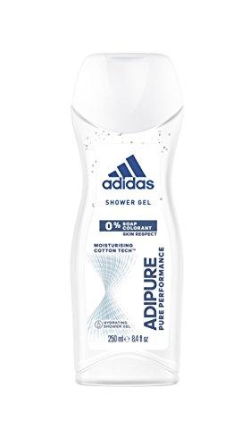 adidas adipure Duschgel für Damen 3-in-1 – Sanfte Reinigung von Körper, Haaren & Gesicht – pH-hautfreundlich – 1 x 250 ml