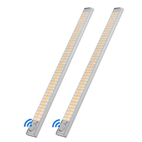160 Led Luce Sensore Movimento Armadio, Led Cucina Sottopensile con Striscia Magnetica Adesiva, USB Ricaricabile,4 Modalità 3 Colori Luce Notturna per Guardaroba Corridoio Scale
