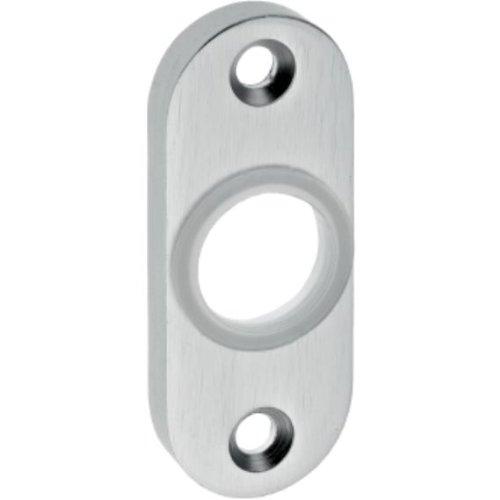 Rahmentür-Drückerrosette 392 gestanzt oval 7mm Alu F1 natur