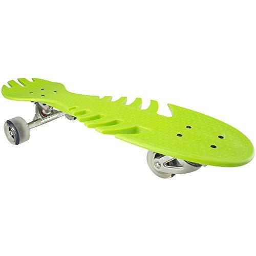Klassisches Skateboard Vitality Skateboard der Kinder Drei-vier-fahrbare Fisch-Knochen-Platte Hochelastisches PU-Blitz-Rad Hoch-Intensitätsrad-Skateboard. Geeignet für Anfänger und Profis