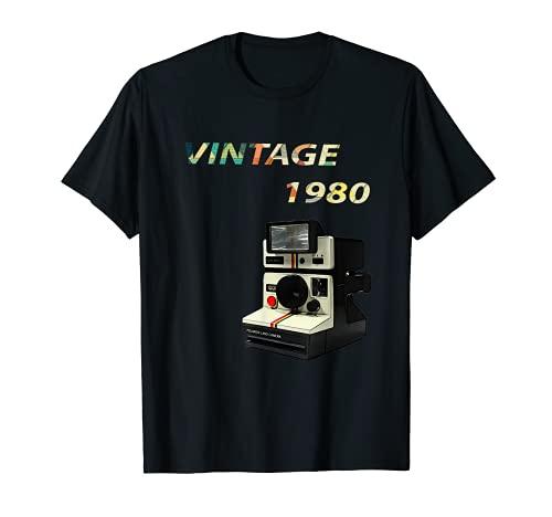 Vintage 1980 Cámara Polar 1980 Retro Hombres Mujeres Camiseta