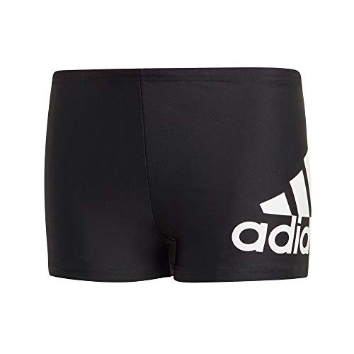 adidas Performance Kinder Badehose Badge of Sport Boxer-Badehose schwarz Weiss, Größe:158