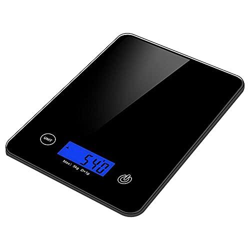 5Kg OZ/ML/LB Báscula de cocina para el hogar Báscula de acero inoxidable Báscula de alimentos Dieta de alimentos Herramienta de medición de equilibrio postal Báscula electrónica LCD-Negro