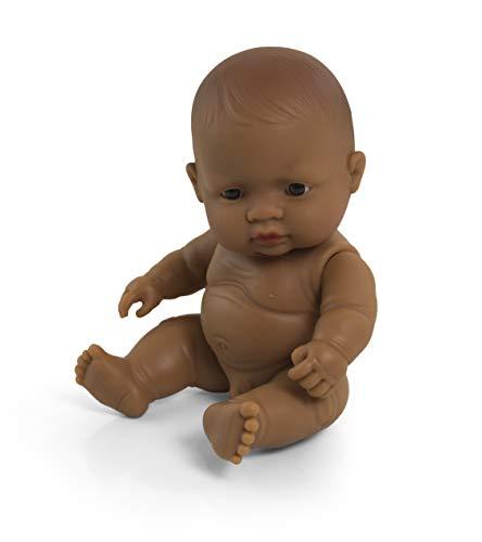 Miniland MINILAND3114721cm Hispanic Boy Doll Senza Biancheria Intima in Borsa