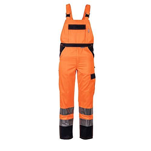 Größe 58 Herren Planam Warnschutz Latzhose 2-farbig orange marine Modell 2026